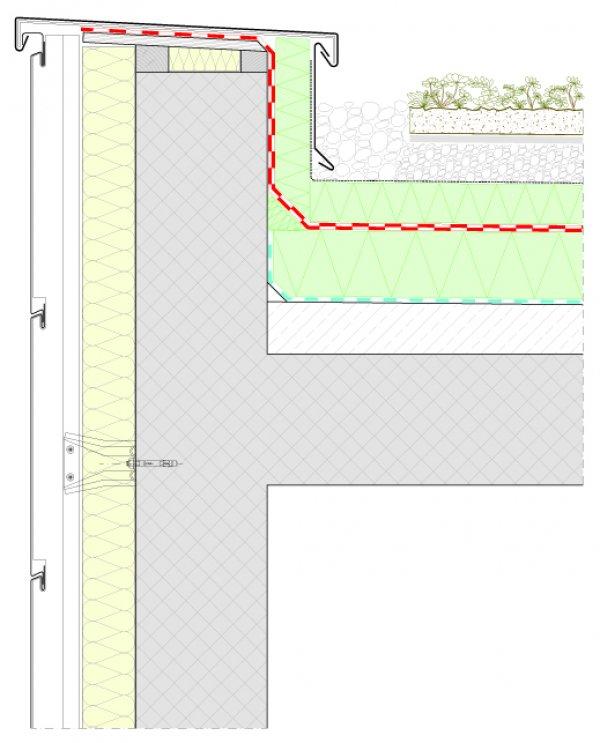 Detajl zelene strehe Duo