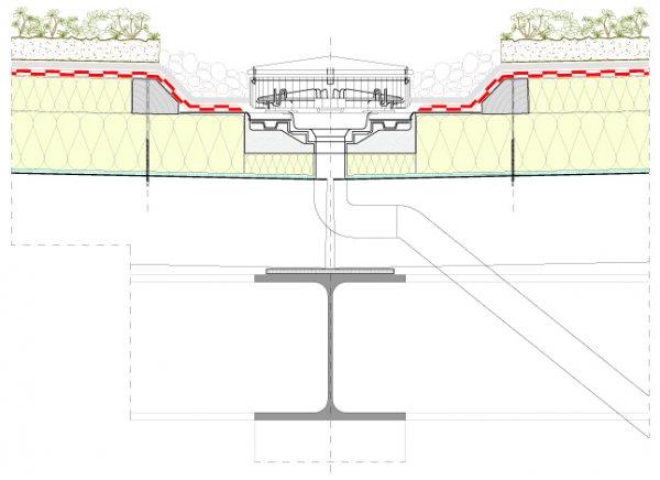 Detajli lahke zelene strehe